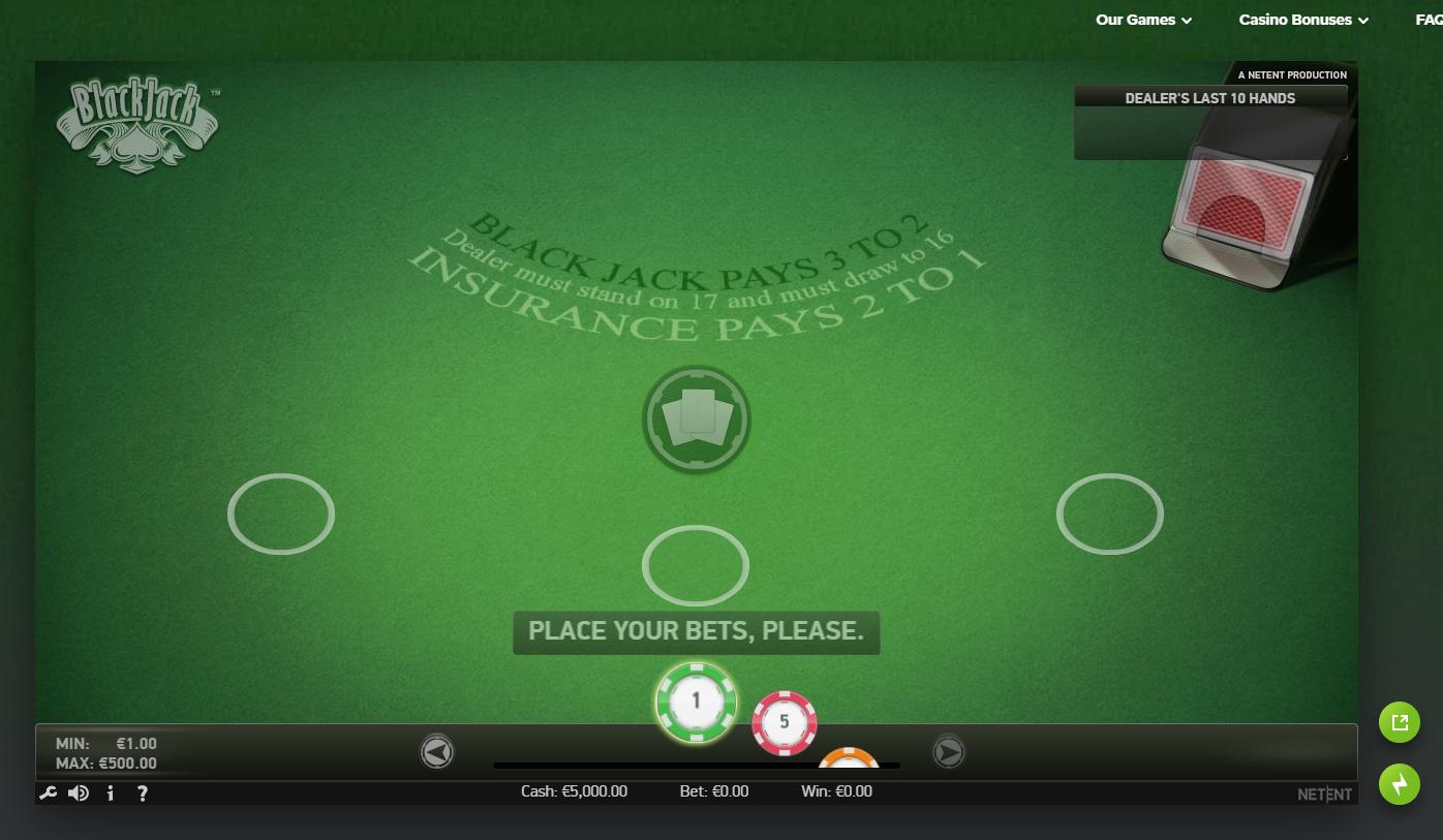 Игровой стол BlackJack